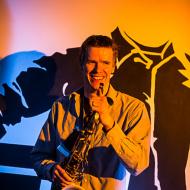 """Jazz w mieście / Derek Brown """"BEATbox SAX"""" / 19.04.2016 / Kap Kap Cafe, fot. Wojtek Kornet - zdjęcie 10/14"""