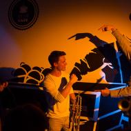 """Jazz w mieście / Derek Brown """"BEATbox SAX"""" / 19.04.2016 / Kap Kap Cafe, fot. Wojtek Kornet - zdjęcie 13/14"""