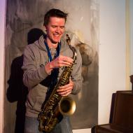 """Jazz w mieście / Derek Brown """"BEATbox SAX"""" / 20.04.2016 / Jezuicka Kuchnia Klasztorna, fot. Wojtek Kornet"""