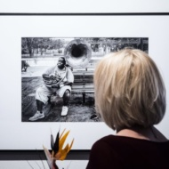"Vernissage of the photography exhibition of Maciej Nowak ""Looking at jazz"" / Gallery ""OKNA"" of Municipal Public Library in Lublin - photo 1/8"